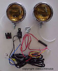 KIT 5 Inch Amber Fog Lights & Fog Lamp Wiring Harness NEW 12V