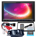 "NEW DOUBLE 2 DIN 7"" INDASH CAR DVD PLAYER RADIO MP3/4 STEREO USB/SD+CAMERA"