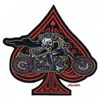 Lethal Threat Ace Skeleton Rider Embroidered Patch LT30176 3070-0849