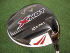 CALLAWAY X HOT PRO 10.5* DRIVER PROJECT X PXV 5.5 REGULAR FLEX GRAPHITE USED RH