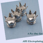 4 x Silver Crown Tyre Tire Wheel Valve Stems Air Dust Caps For Acura MDX TL RLX