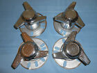 VINTAGE TRI-BAR WHEEL SPINNERS WITH HUBS HOT RAT ROD KUSTOM 32 36 FORD CHEVY