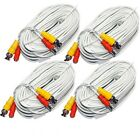 4 Unit of 100 Feet WHITE BNC Video DC Power Siamese Cables for CCTV Surveillance