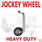Heavy Duty 48mm Caravan Trailer Jockey Wheel Solid tyre