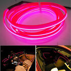 Car 12V 6.5ft Panel Gap Pink Decorative Atmosphere LED Cold EL Neon Lights Strip