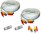 AceLevel Premium 100ft BNC Extension Cables for Q-See Systems - 2 Pack (White)