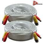 AceLevel Premium 100ft BNC Extension Cables for Night Owl Systems - 2 Pack White