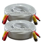 AceLevel Premium 100ft BNC Extension Cables for Zmodo Systems - 2 Pack (White)
