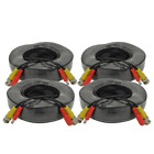 AceLevel Premium 100ft BNC Extension Cables for Zmodo Systems - 4 Pack (Black)