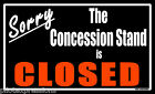 """Sorry, The Concession Stand is Closed"" Aviation Humor Decal. Aviation Gifts"