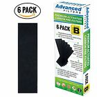 Premium Carbon Activated PRE-FILTER 6-Pack for Germ Guardian AC4800 AC4825e B to