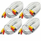 4 Unit of 200 Feet White BNC Video DC Power Siamese Cables for CCTV Surveillance