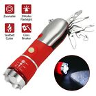 Car Auto Emergency Safety Hammer Belt Cutter Bus Escape Tool Kit with Flashlight