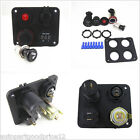 Panel Mount Waterproof Car Marine 2 USB Socket+Voltmeter+12V Power Socket+ON-OFF