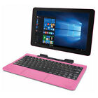 "10.1"" Screen 2-in-1 Tablet Laptop 32GB Intel Atom Quad-Core Processor Pink USB"