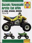 HAYNES SUZUKI/KAWASAKI ARCTIC CAT ATV'S 2003-20090 SERVICE REPAIR MANUAL  (2910)