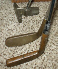 Lot of 3 Vintage golf clubs 2 putters 1 chip n run brass heads