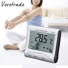 AL-2 LCD Digital Temperature Humidity Meter Clock Alarm Thermometer Hygrometer