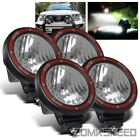 """4 x 55W Xenon HID 7"""" Off Road Work Roof Rack/Grille/Bull Bar Lights Flood Lamps"""