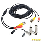 Flashmen 25ft 1 pack bnc video power cable security camera wire cord for cctv