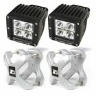 Rugged Ridge X-Clamp And Square Led Light Kit, Large, Silver, 2 Pieces 15210.11