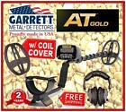 GARRETT AT GOLD Metal Detector + Coil Cover - All Terrain/Waterproof to 10' w HP