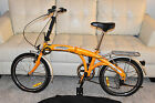 Brand New older CITIZEN FOLDING portable collapsible BIKE yellow Bicycle Shimano