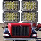 "4PCS 4X6"" LED Headlights CREE Light Bulbs Sealed Beam Headlamp for Kenworth Jeep"
