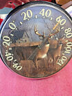 BS8 RARE vintage Acu-Rite Deer Indoor Outdoor Thermometer Chaney Instrument Co