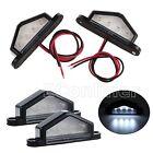 2pcs 4 LED LICENSE NUMBER PLATE LIGHT TAIL REAR LAMP CAR TRUCK TRAILER LORRY Van