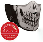 Zan Headgear Modi-Face Gray Skull MASK ONLY Detachable Mask WBNFM004H 26-4059