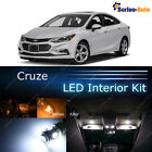 10x Xenon White LED Interior Lights Package Kit for 2010 - 2017 Chevrolet Cruze