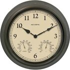 """AcuRite 15"""" Copper Patina Indoor or Outdoor Clock with Thermometer & Humidity 01"""