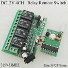 12V 4CH Relay Remote Switch 4CH Remote Transmitter PCB without Case315433 PT2262