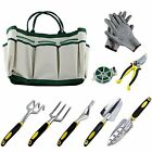 Ucharge 9 Pieces Garden Tool Sets Include a Plant Rope and a Pair of Work Heavy