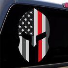 "Firefighter ""Thin Red Line"" Spartan Helmet Decal Sticker Graphic - 5 Sizes"