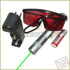 GX4 532nm Adjustable Focus BURNING Green Laser Pointer &Battery&Charger& Goggles