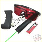 G768 532nm Adjustable Focus BURNING Green Laser Pointer &Battery&Charger&Goggles