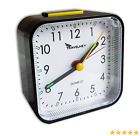 Travelwey Analog Alarm Clock, Upgraded, No Ticking, Alarm, Snooze, Light