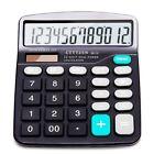 Calculator,12-Digit Solar Battery Basic Calculator,Solar Battery Dual Power New!