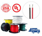10 AWG Marine Wire Spool Tinned Copper Boat Cable 100' Red, 100' Black USA Made
