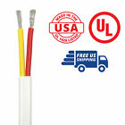 12/2 AWG Duplex Flat DC Marine Wire Spool - 100 ft. - Red/Yellow - USA Made
