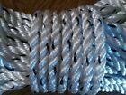 New 225 Feet of 3/8 inch 3 strand polyester combo rope