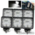 "6 x 4.5"" 27W Off Road 9 Bright LED Spot Square Lights Grille/Bumper/Work Lamps"