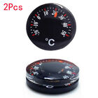 2x 20mm Handy Portable Mini Round Indoor Camping Travel Tour Plastic Thermometer