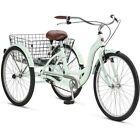 NEW SCHWINN 26 Meridian 3-Wheel Trike Adult Comfort Cruiser Bike Tricycle, Mint