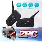2 x BT Bluetooth Motorcycle Motorbike Helmet Intercom Headsets 6 Riders 1200M