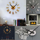 DIY Luxury 3D Wall Clock Large Size Surface Home Decoration Art Clock