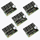 5pcs C51 4 Bits Digital LED Electronic Clock Production Suite DIY Kits Set