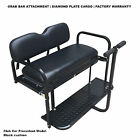 BLACK YAMAHA G14 G16 G22 Rear Flip Seat for All Years Yamaha G14-16-22 Golf Cart